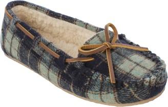 Minnetonka Plaid Flannel Pile Lined Slipper - Plaid Cally