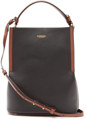 Burberry Peggy Leather Bucket Bag - Black Multi