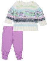 Splendid Baby Girl Mixed Yarn Sweater Set