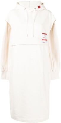 Maison Mihara Yasuhiro Slouchy Hooded Midi Dress