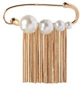 BCBGeneration Pearl Group Faux Pearl & 12K Yellow Goldplated Pin