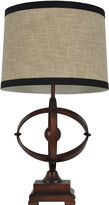 JHUNT HOME Dcor Therapy Brown & Black Wood Table Lamp