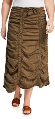 XCVI Double Shirred Panel Midi Skirt
