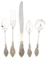 Reed & Barton 50-Piece Florentine Lace Flatware Set