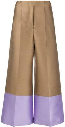 Pt01 Cropped Wide-Leg Trousers