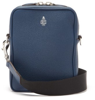 Mark Cross Scott Grained-leather Cross-body Bag - Navy