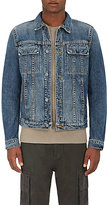 Helmut Lang Men's Trucker Denim Jacket-BLUE