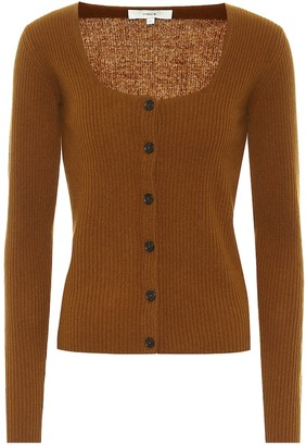 Vince Ribbed-knit cashmere cardigan