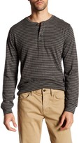 Brooks Brothers Striped Long Sleeve Henley Tee