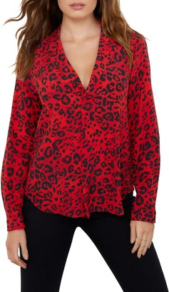 Karen Kane Animal Print Shirt