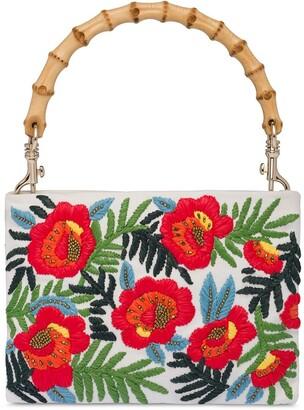 Miu Miu Embroidered Floral Handbag