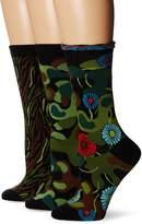 Ozone Women's Camo Crew Socks 3-Pack