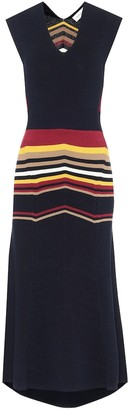 Victoria Beckham Cotton-blend knit midi dress