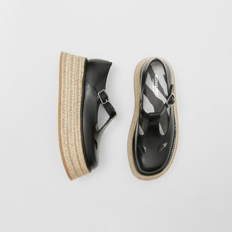 Burberry Leather T-bar Shoes