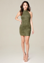 Bebe Aria Faux Suede Dress