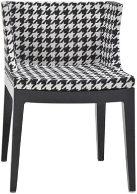 Kartell Mademoiselle Chair Finish: Crystal, Upholstery: Pied de Pole