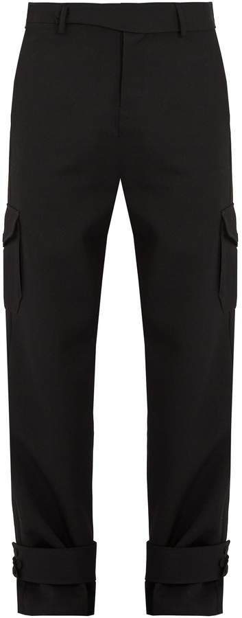 J.W.Anderson Strap-detail wool cargo trousers