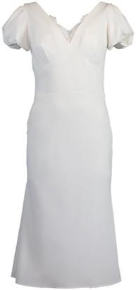 Ermanno Scervino Puff Sleeve Sheath Dress