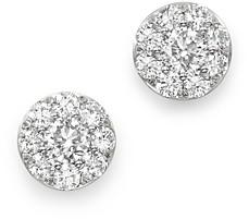 Bloomingdale's Diamond Circle Medium Stud Earrings in 14K White Gold, 1.5 ct. t.w. - 100% Exclusive
