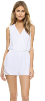 Cupcakes And Cashmere Irina Romper with Lace Trim