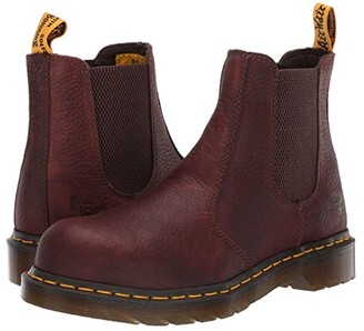 Dr. Martens Work Arbor Steel Toe Chelsea Boot (Grey) Women's Pull-on Boots