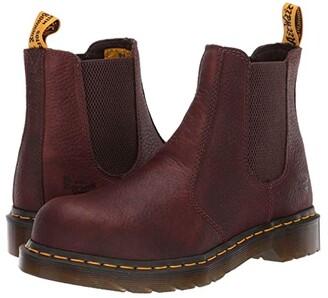 Dr. Martens Work Arbor Steel Toe Chelsea Boot (Teak) Women's Pull-on Boots