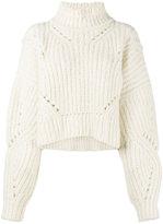 Isabel Marant Farren cropped jumper - women - Polyester/Wool/Alpaca - 34