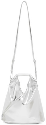 MM6 MAISON MARGIELA Silver Faux-Leather XS Micro Japanese Tote