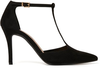 Forever New Alyssa T-Bar Pointed Court Shoes - Black - 38