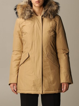 Woolrich Jacket Arctic Parka With Hood And Fur Edges