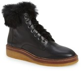 Pour La Victoire Women's 'Jett' Leather & Genuine Rabbit Fur Boot