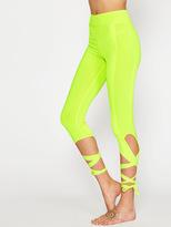 Shein Neon Yellow Crisscross Tie Up Leggings