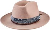 San Diego Hat Company Women's Cowboy Hat with Bandana WFH8045