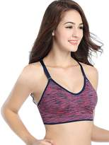 Imixshop Women Seamless Racerback Padded Sports Bra Fitness Yoga Stretch Tank Top