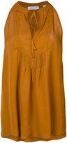 A.L.C. sleeveless tie-neck blouse - women - Silk - 6