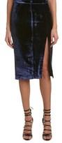 KENDALL + KYLIE Velvet Silk-blend Midi Skirt.