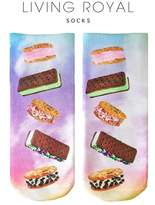 LIVING ROYAL Ice Cream Sandwhich Ankle Socks