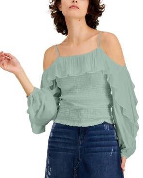 INC International Concepts Inc Solid Cold-Shoulder Top, Created for Macy's