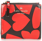 Kate Spade Be Mine Collection Adalyn Heart-Print Bifold Wallet