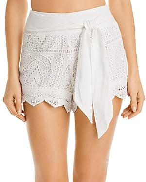 Surf.Gypsy Crochet Cotton Shorts Swim Cover-Up