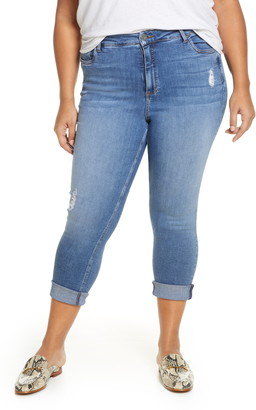 KUT from the Kloth Rachael High Waist Distressed Cuff Mom Jeans