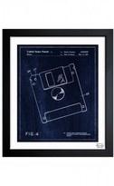 Oliver Gal 'Floppy Disc Blueprint' Framed Print