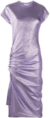 Paco Rabanne Draped Lurex Midi Dress