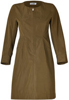 Jil Sander Olive Cotton-Silk Dress