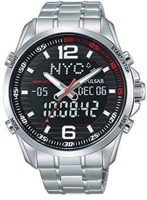 Pulsar Unisex Analogue Quartz Watch with Stainless Steel Plated Bracelet - PZ4001X1