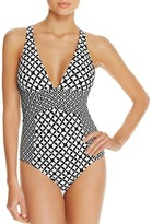 Athena Baja Geo One Piece Swimsuit