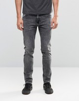 Weekday Friday Skinny Jeans Generic Gray Acid