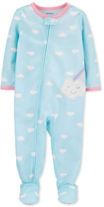 Carter's Carter Baby Girls Footed Cloud Pajamas