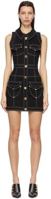 Balmain Black Denim Short Dress