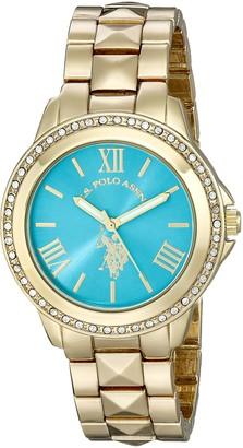 U.S. Polo Assn. Women's USC40076 Analog Display Analog Quartz Gold Watch